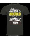 Camiseta este increíble abuelo personalizada
