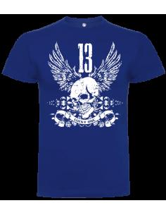 Camiseta calavera 13 unisex