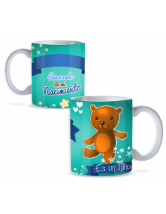 Taza nacimiento personalizada niño oso