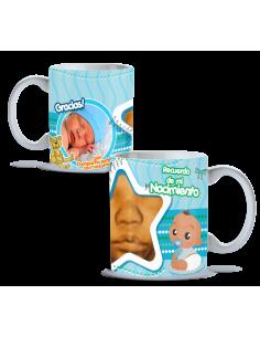 Taza nacimiento personalizada gracias por compartir niño