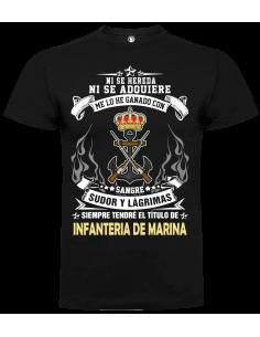 Camiseta infantería de marina unisex