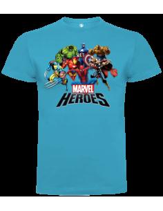 Camiseta Heroes Marvel niño