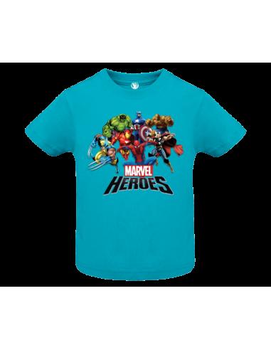 Camiseta Heroes Marvel bebé