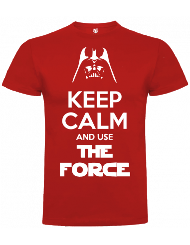 Camiseta keep calm and use the force unisex