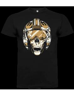Camiseta calavera piloto alianza unisex