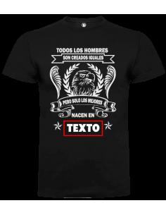 Camiseta todos los hombres son creados