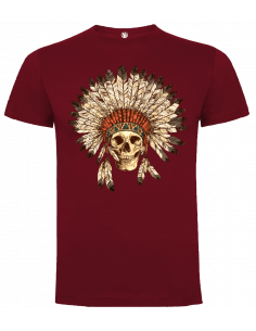 Camiseta calavera india unisex