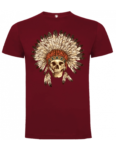 Camiseta calavera india unisex