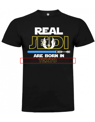 Camiseta real jedi are born personalizada unisex