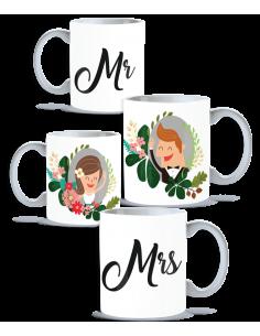Pack tazas pareja Mr. Mrs.