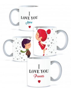 Pack taza pareja i love you more