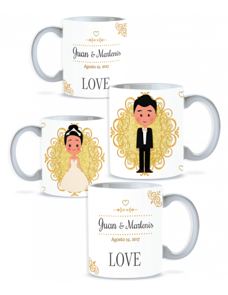 Pack taza pareja personalizada boda