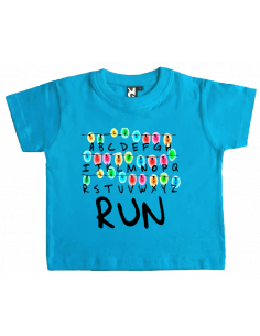 Camiseta strenger things run bebé