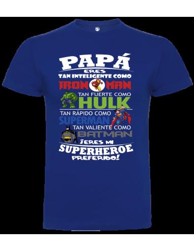Camiseta niño papá eres mi superhéroe favorito