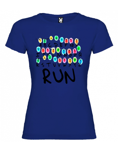 Camiseta Strenger things luces mujer