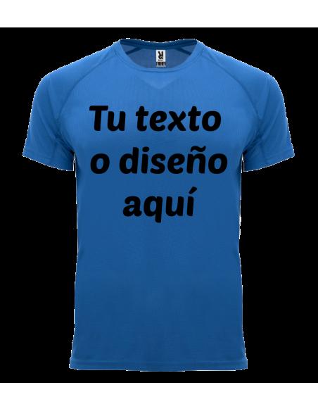 Camiseta poliester personalizada estampación en negro