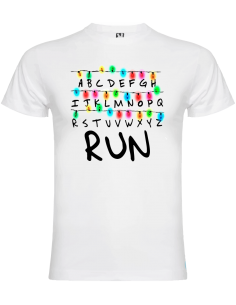 Camiseta Strenger things run niño