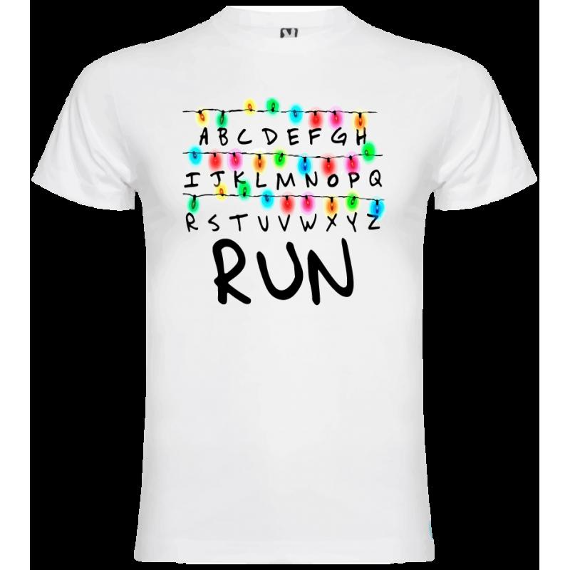 Camiseta Strenger things run niño