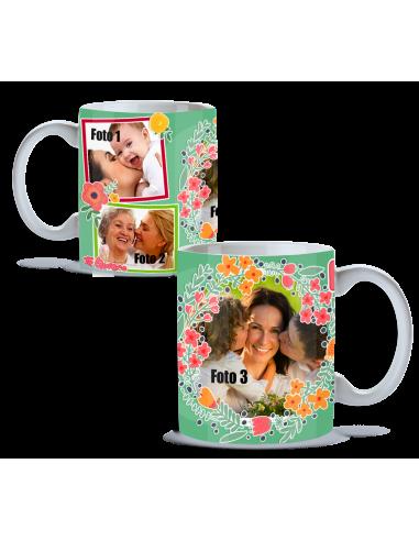 Taza floral Personalizada día de la madre 21