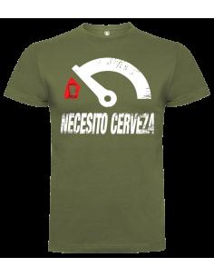 Camiseta Necesito Cerveza unisex