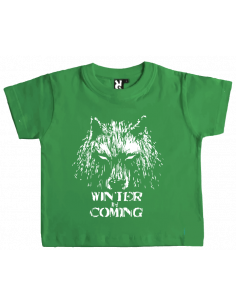 Camiseta winter is coming lobo bebe