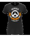 Camiseta Heroes Never Die mujer