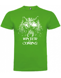 Camiseta winter is coming lobo niño