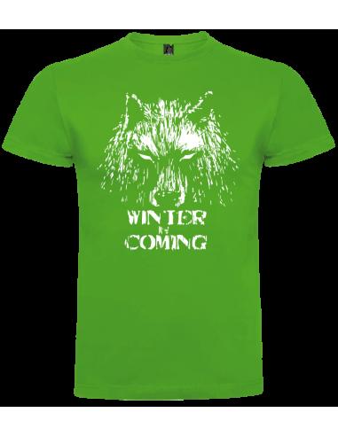 Camiseta winter is coming lobo niño
