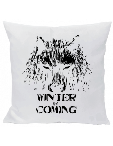 Cojín winter is coming lobo