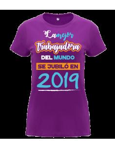 Camiseta La Mejor Trabajadora del Mundo Personalizada