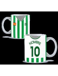 Taza Real Betis balompié personalizada