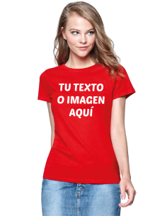 Camiseta mujer algodón personalizada