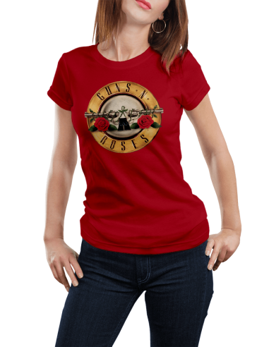 Camiseta Guns And Roses mujer