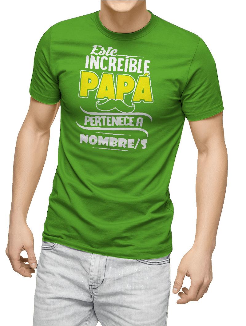 Camiseta este increíble papá personalizada