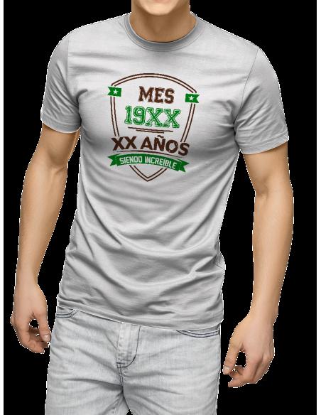 Camiseta AÑO MES X años siendo increíble