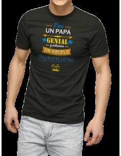 Camiseta eres un papa genial y ademas un abuelo maravilloso