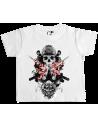 Camiseta calavera samurai bebé