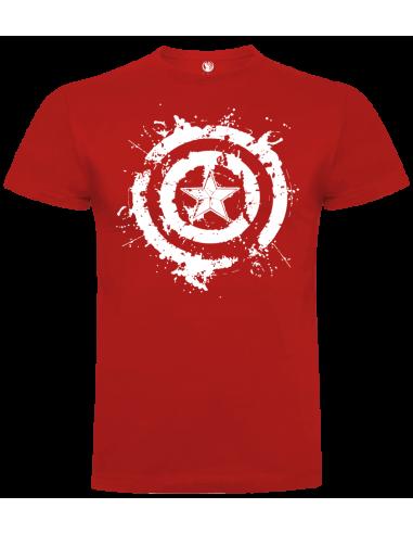 Camiseta escudo Capitán América unisex